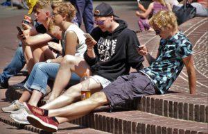 Jugendliche Handy-Strahlen