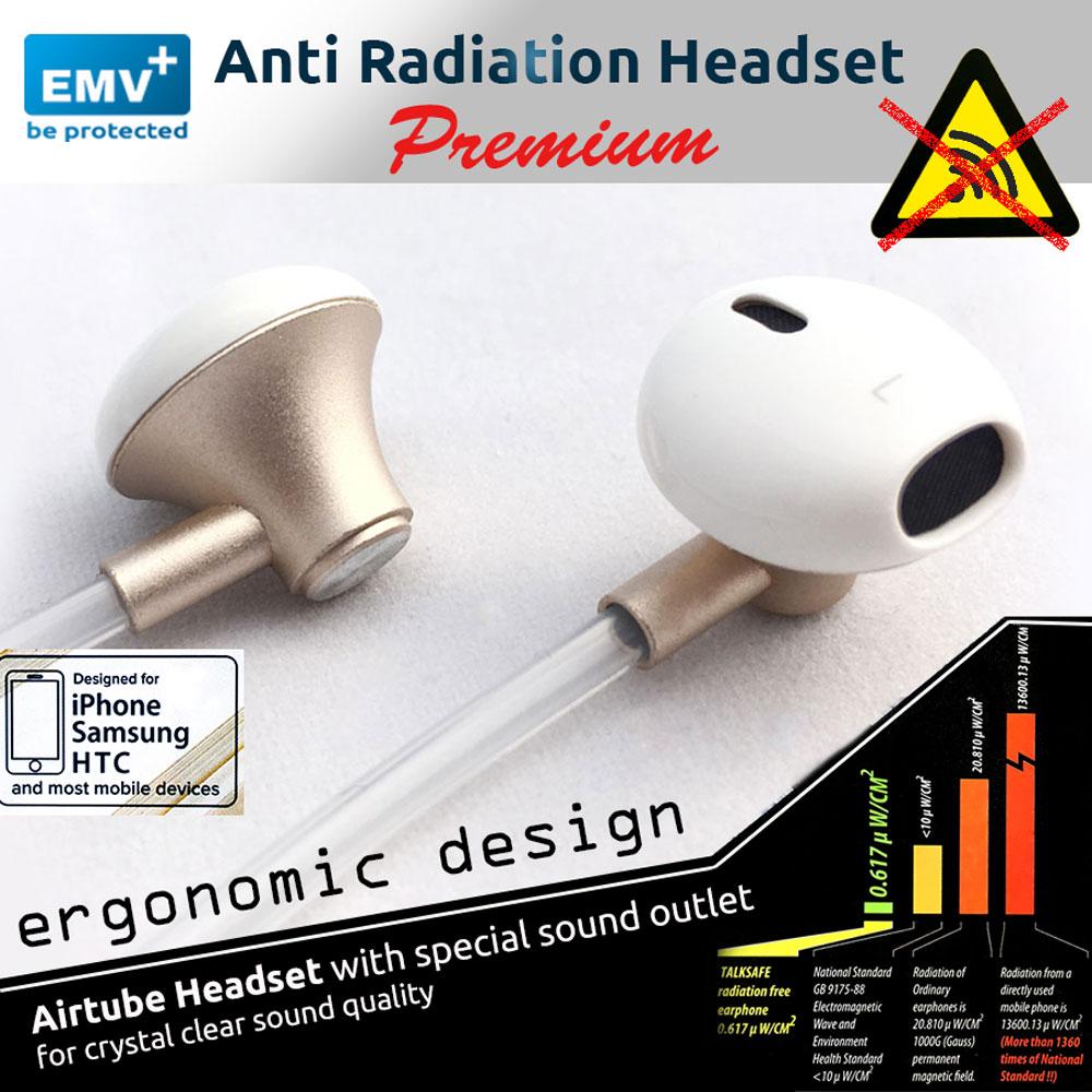Anti-Strahlen Headset mit ergonomischem Kopfhörer